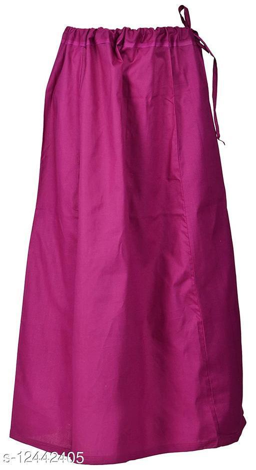 Pure Cotton Saree Petticoat Purple Color Free Size