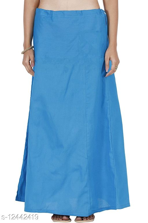 Pure Cotton Saree Petticoat SKY Blue Color Free Size