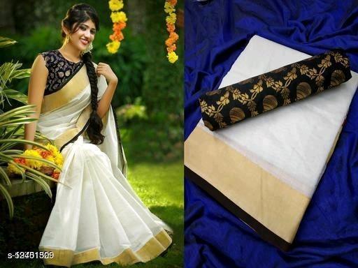 chanderi jequred  silk sari