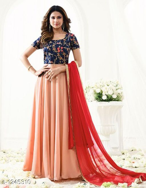 Fancy Georgette Semi Stitched Suits & Dress Material