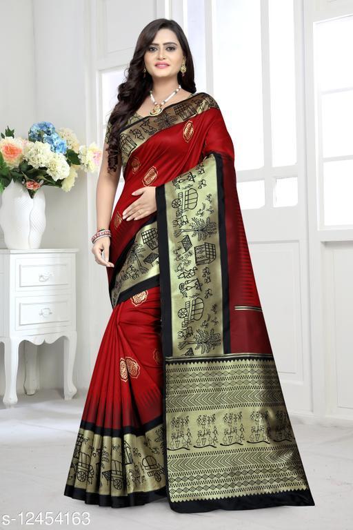 Riva Enterprise Women's Banarasi Silk With  jari weaving  Party Wear Saree