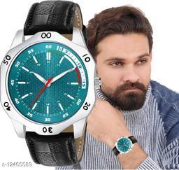 MissPerfect Rishtey Men01 Black Green Analog Watch For Men And Boys