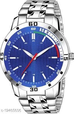 MissPerfect Rishtey Men's Steel Chain RB01 Silver Blue New Stylis Men's All New looks Sports Design Steel Chain Analog Watch