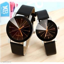 MissPerfect Black Crystal glass Couple Watch