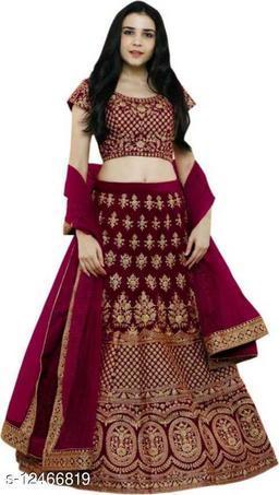 Designer partywear havy embroidered  lehenga choli With Dupatta