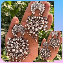 Akshetri jewels oxidised metal women earring