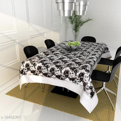 Kingly Home dining table cover 4 seater plastic ( 40 x 60 Inches )