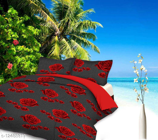 Kingly Home bedsheet for double bed bombay dyeing bedsheet with 2 pillow covers (90x90 Inches)