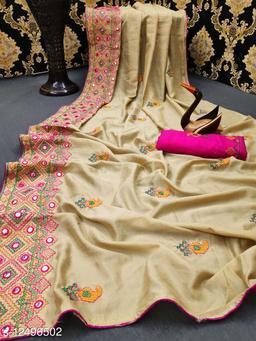 Latest kasmirir designer saree for women