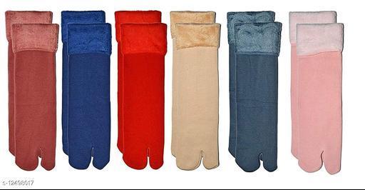 Winter Thermal Multi Color Wool Heavy Duty Warm Ankle Length Socks Women/Girls Winter Socks (Pack of 6)