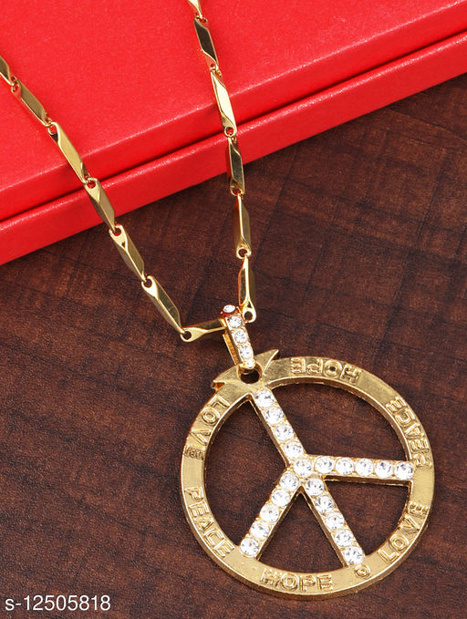 Gold Plated Daimond  Pendent Chain For Man And Boy