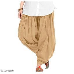 Women's Traditional  Magenta Cotton Semi Patiala Salwar