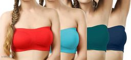 Pack of 4 Non Padded Bandeau Bra