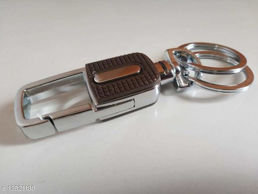 Car Key Chain with Snap Hook Simplicity Design Split Ring Key Chain