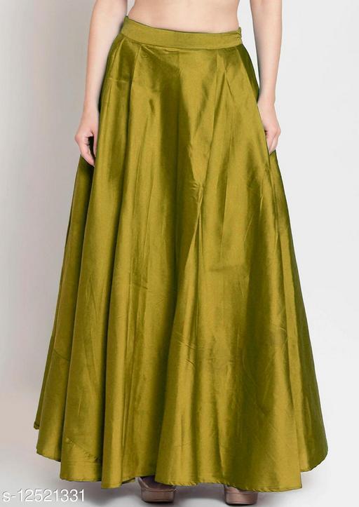Mehendi Taffeta Silk Free Size Women's Skrit