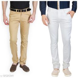 Combo Variation Men's Western Stylish Casual Trouser