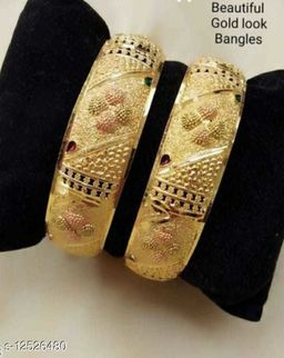 beautiful two piece gold plated set