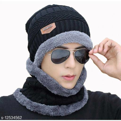 FASHLOOK BLACK BALKALOVA CAP FOR MEN