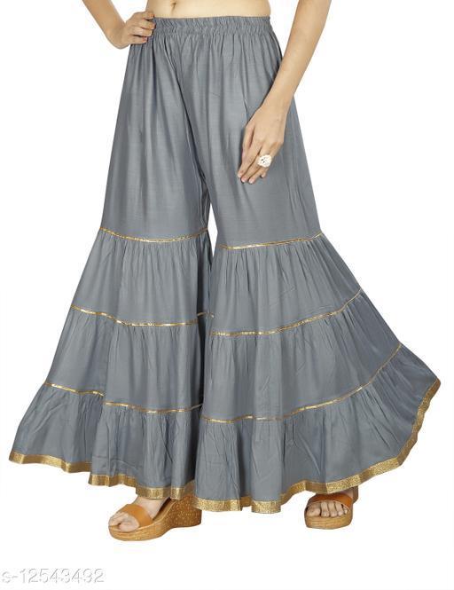 Karma Women's Rayon-Cotton Flared Sharara