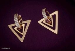 Rose Gold Plated Diva Colorful Earrings