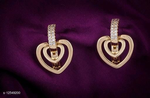 Rose Gold Plated Princess Chunky Earrings