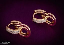 Rose Gold Plated Shimmering Fusion Earrings