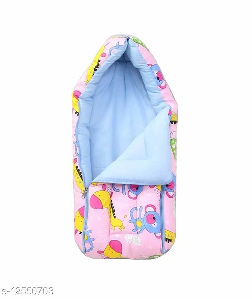New Born Baby Bed-Cum Baby Pink 0-15 Months -Soft Cotton By Shopping Slang India Ltd