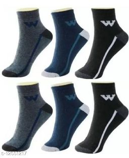 Fuku Unique Ankle Premium Quality Socks W Style (Pack of 6)