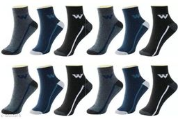 Fuku Unique Ankle Premium Quality Socks W Style (Pack of 12)
