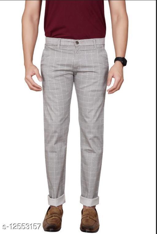 Cotton Checkered Trouser