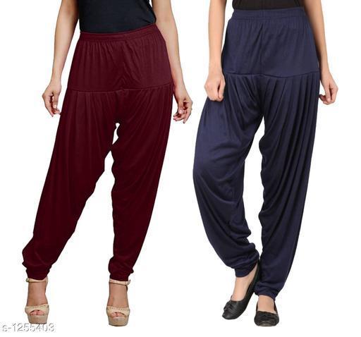 Trendy Viscose Patiala Pants (Pack Of 2)