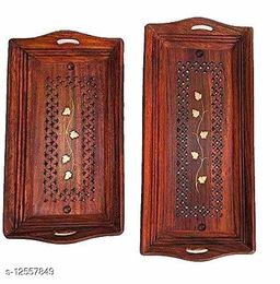 Wooden Serving Tray set of 2