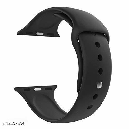 iWatch Soft Silicone Strap Compatible with Apple Watch SE - (42/44mm, Black)