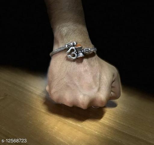 Stylish Men's Golden Trisul Rudraksha Bracelet