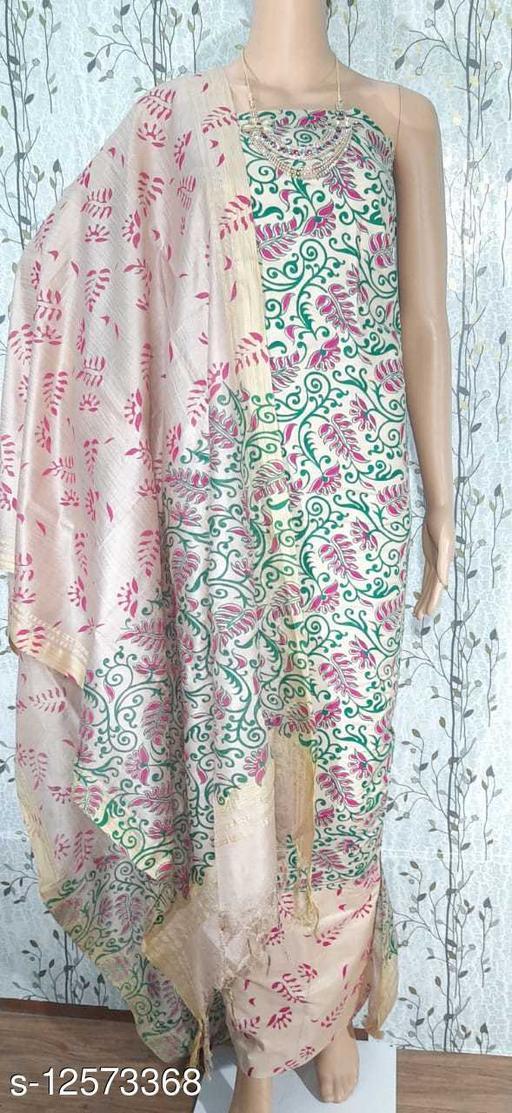 Attractive Cotton Silk Suit