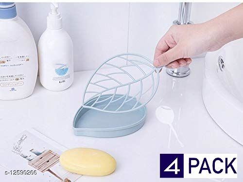Leaf Shape Designer Soap Tray | Drip Soap Box with Water Draining Tray
