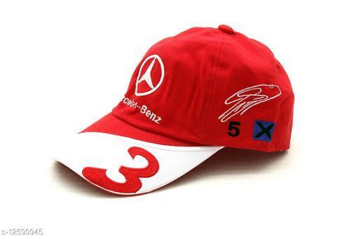 Stylish Men's Red Cotton Caps