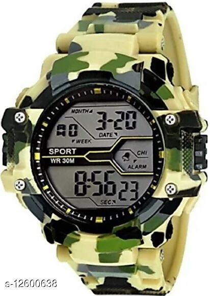 Army New Digital Sports Watch for Men (Yellow)