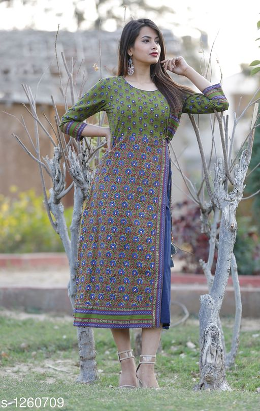 Kurtis & Kurtas Designer Women's Kurtis & Gown    *Fabric* Cotton  *Sleeves* Sleeves Are Included  *Size* S- 36 in, M- 38 in, L- 40 in, XL- 42 in , XXL - 44 in  *Length* Up To 48 in  *Type* Stitched  *Description* It Has 1 Piece Of Women's Kurti  *Work * Mirror Work  *Sizes Available* S, M, L, XL, XXL   Catalog Rating: ★3.6 (47) Supplier Rating: ★4.1 (2717) SKU: Blue Mirror work Kurta Shipping charges: Rs1 (Non-refundable) Pkt. Weight Range: 300  Catalog Name: Stylish Designer Women's Kurtis & Gowns Vol 1 - AA Retail Code: 487-1260709--728