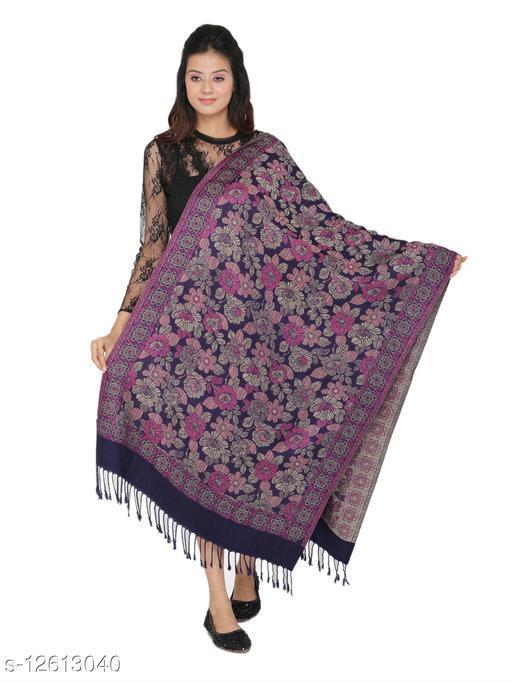 Kti Viscose Embroidered Women Shawl (Pink)