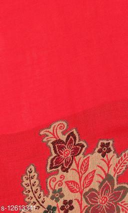 Kti Viscose Embroidered Women Shawl (White, Beige)