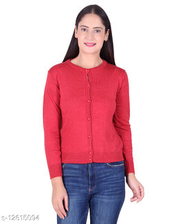 Varenyam Woollen solid Women's Cardigan