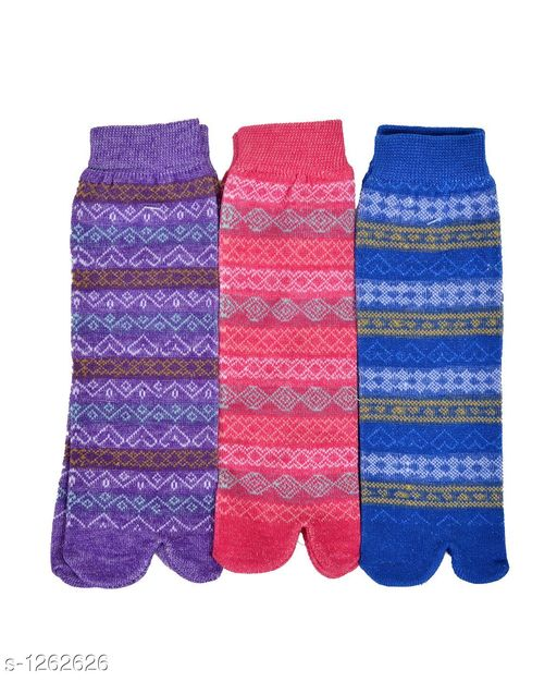 Women's Beautiful  Cotton Socks (Pack Of 3)