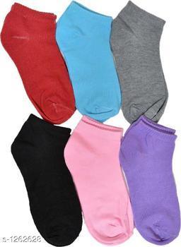 Women's Beautiful  Cotton Socks (Pack Of 6)