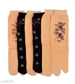 Women's Beautiful Cotton Socks ( Pack Of 6 )