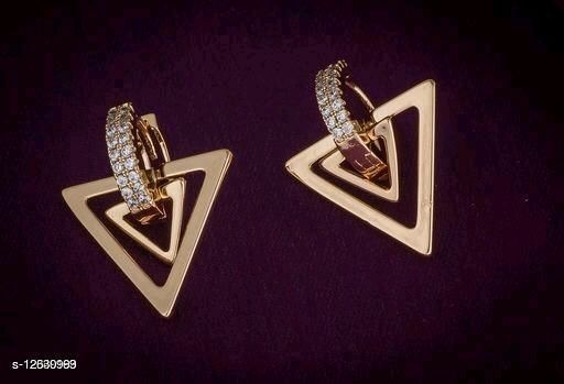 Rose Gold Plated Twinkling Chic Earrings