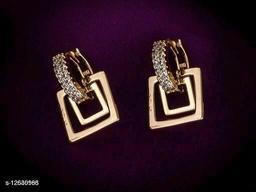 Rose Gold Plated Feminine Colorful Earrings