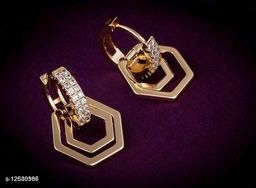 Rose Gold Plated Twinkling Fusion Earrings