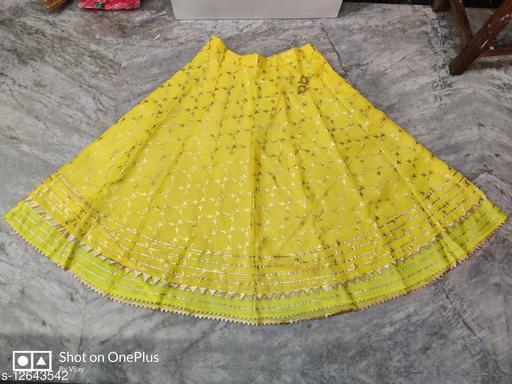 Kota Doriya Double Frill Foil Print Skirt