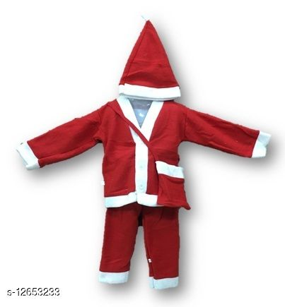 christmas Santa claus Top, bottom, beg and cap set for boys and girls